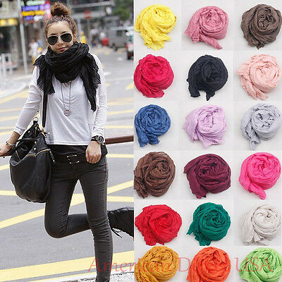 Candy Scarf Long Crinkle Wrap Shawl Stole Style Fashion Women Girl Many Colors!