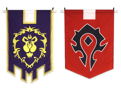 World of Warcraft Allianz oder Horde Banner WoW Flagge Fahne Flag 60x95cm