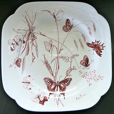 Rare, Spode First Addition Butterfly Plate by Cecil Beaton ... #39 ... MINT!