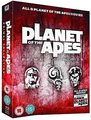 PLANET OF THE APES (1968-2014) inc. RISE + DAWN -  BLU-RAY PRIMAL COLLECTION NEW