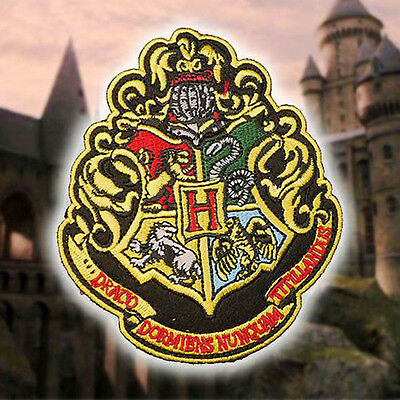 """HARRY POTTER """"HOGWARTS"""" Large Embroidered Robe Patch - Expecto Patronum!"""