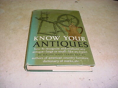 Know Your Antiques Hardcover by Ralph and Terry Kovel 1968