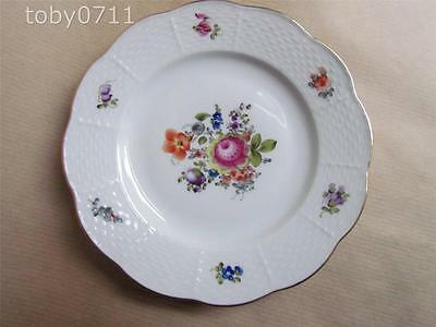 "HEREND BOUQUET DE SAXE HAND PAINTED FLORAL SPRAY 6"" SIDE PLATE"