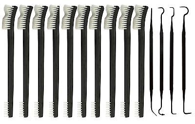 """New 14pc 7"""" Double Ended Gun Cleaning Brush + Double Ended Picks Combo Set"""