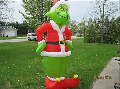 NEW 8 FOOT INFLATABLE CHRISTMAS GRINCH AIRBLOWN LIGHT YARD DECORATION GEMMY