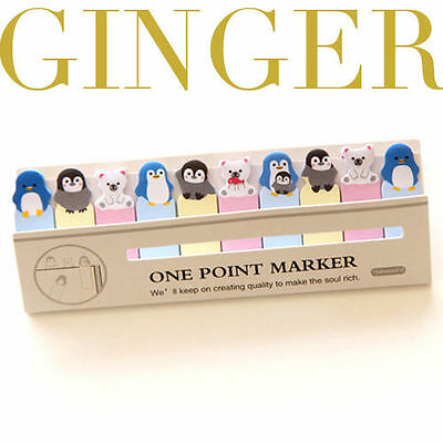 Penguin Bear Mini 150 Pages Sticker Post It Bookmark Index Tab Pad Sticky Notes