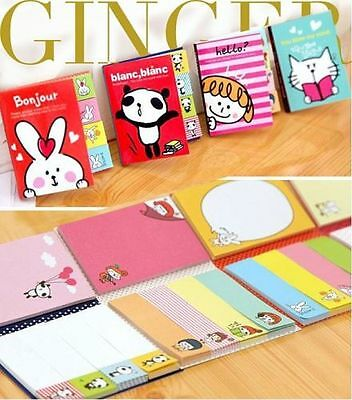 KAWAII!!! Funny Sticker Post-It Bookmark Point It Marker Memo Flags Sticky Notes