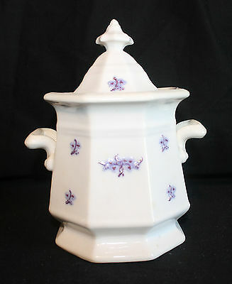 Antique Chelsea Grape or Grandmother's Ware Large Sugar Bowl or Tea Caddy 1800s