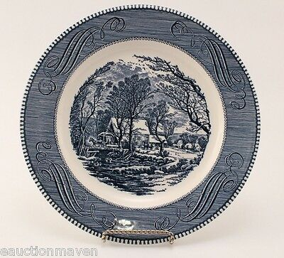 """Currier & Ives Dinner Plate Old Grist Mill 10"""" Diameter Royal China USA"""