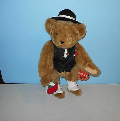 """Vermont Teddy Bear Gangster of Love 16"""" Fully Jointed Valentine Teddy Bear"""