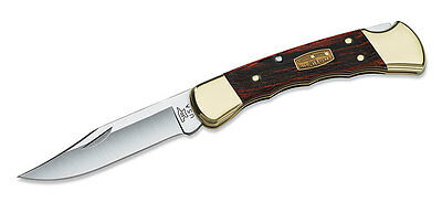 Buck 110 Folding Hunter Finger Groove Knife 50th Anniversary Edition 110BRSFG