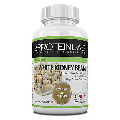 White Kidney Bean Extract 5000mg Carb Blocker Weight Loss Diet Pills Tablets Cap