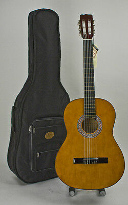 Full Size Acoustic Classical Guitar With Stay In Tune Nylon Strings & Case