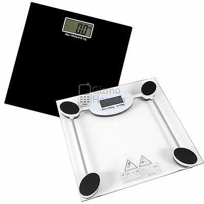 180Kg Digital Electronic Glass Lcd Weighing Body Scales Bathroom Lose Fat Strong