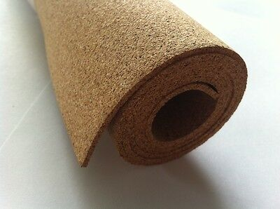 CORK SHEET - 3 ROLLS - 300 mm X 2 Meter  LONG - 2 mm THICK