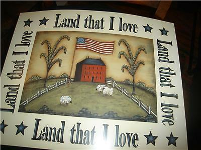 AMERICAN FARM LAND WITH SHEEP LAND THAT I LOVE