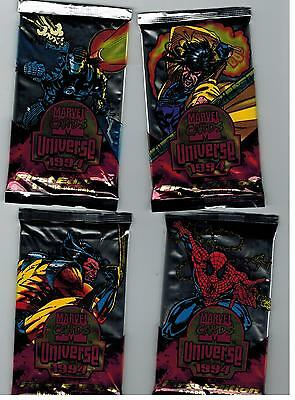 An Unopened 4 Pack Lot 1994 Marvel Universe First Edition Cards Spider-Man