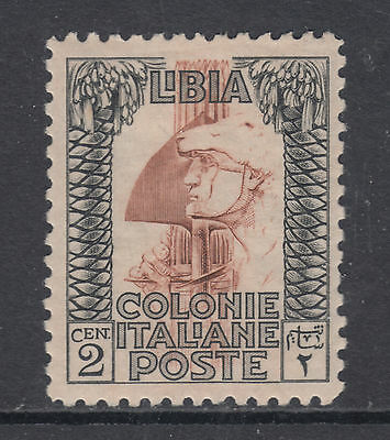 Libya Sc 48a MLH. 1924 2c Roman Soldier, perf 11, unwatermarked, F-VF