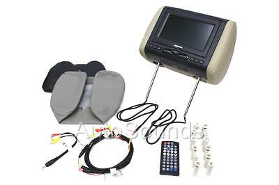 "Audiovox AVXMTGHR1D 7"" LED Headrest Monitor W/ DVD Player Interchangeable Cover"
