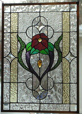 Stained Glass Window Hanging 15 5/8 X 21 3/4'