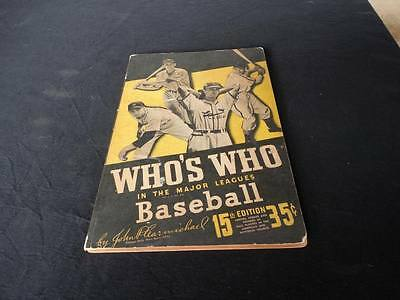 Vintage 1947 Whos Who in the Major Leagues 15th Edition Baseball Book