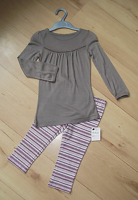 BNWT Girls Clothes 3-4 years MOTHERCARE Cotton Leggings & Long Sleeved Top Set