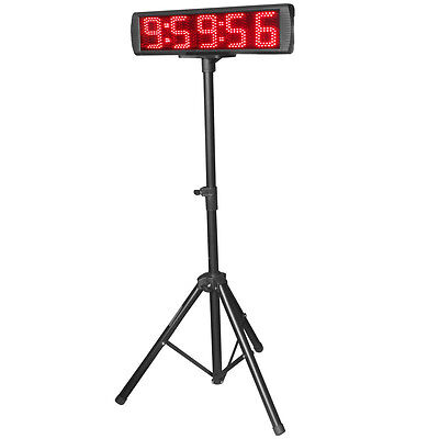 Bright 5Digits LED Race Timing Clock LED Countdown Up Timer Red Color With Stand