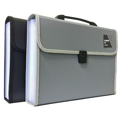 20 Pocket Expanding Box File Organiser A4 Documents Paper Foolscap Folder Wallet