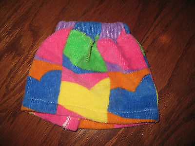 LITTLE BROWNIES DOLL TERRY CLOTH SKIRT FITS BEAR PLUSH VELCRO