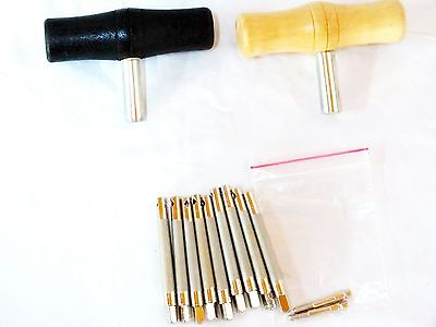 1 Set Of Nickel Plated Brass Pegs, Screws And Key For Harp  New  !!!!!!!!!!!!