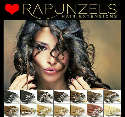 "Micro loop ring remy hair extensions 20"" grade AAA thick 1 gram bonds -Rapunzels"