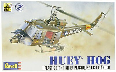 Revell 1:48 Huey Hog Helicopter Plastic Model Kit, New