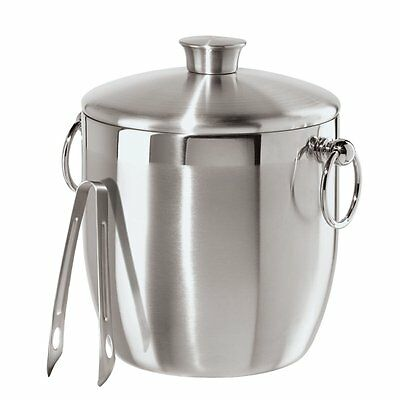 Oggi Stainless Steel Ice Bucket with Tongs, 3 L, New