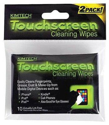 20 Kimberly-Clark Kimtech Touchscreen Cleaning Wipes, 2 Pack of 10-Count Wipes