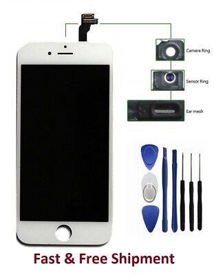 """Brand New White LCD Replacement Digitizer Assembly for iPhone 6 4.7"""" With Tools"""
