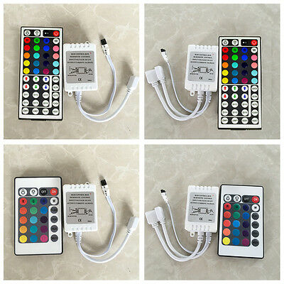 24 & 44 Key IR Remote Controller Box AC/DC 12V For LED RGB 3528/5050 Light Strip