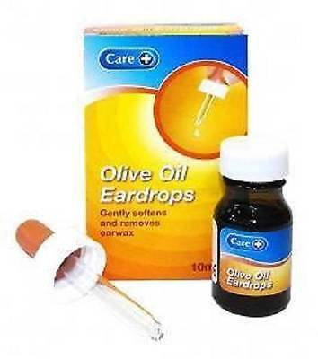 ** OLIVE OIL EARDROPS 10ml SOFTENS & REMOVES EARWAX EAR DROPS NEW **