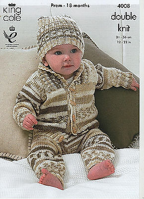 King Cole Easy Knit Baby Double Knitting Pattern,sweater,jacket,leggings