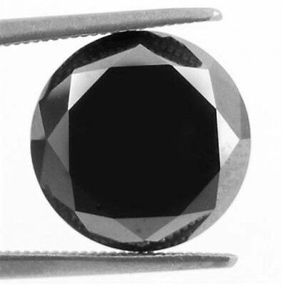 0.065CT NATURAL BLACK DIAMOND ROUND BRILLIANT CUT OPAQUE QUALITY Engagement NR *