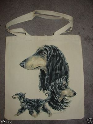 Afghan Hound ( Black & Tan |) on  A Tote Canvas Bag