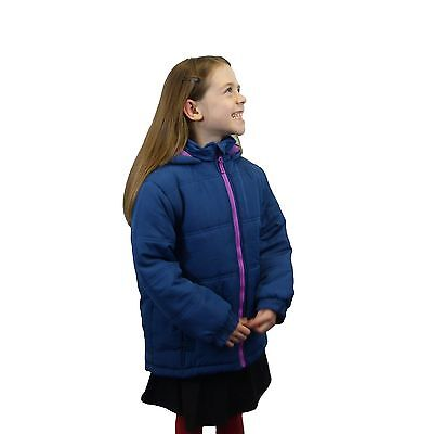 Girls Padded Jacket / Coat  with Fleece Lined Hood in 4 Colours RRP £85