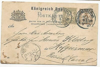 GERMANY 19th Century Cover Bavaria 1900 Post Card