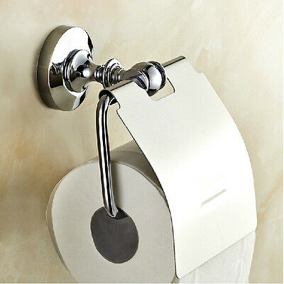 Wall Mount Roll Toilet Paper Holder Chrome Finish