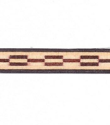 """Lot of Five - 1/4"""" Chainlink Dental - Frères Marquetry Banding Strip (Inlay-105b"""