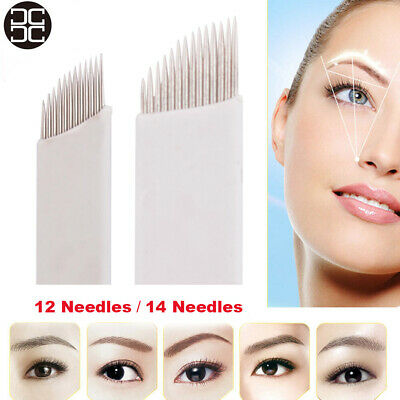 50pcs/box Chuse High Quality Permanent Makeup Manual Eyebrow Tattoo Bevel Blades