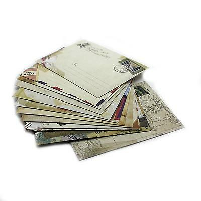 12pcs/Set  Retro Stationery Wish Paper Ancient Envelope Christmas Holiday Gift