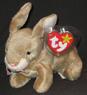 TY NIBBLY the BUNNY BEANIE BABY - MINT with MINT TAGS