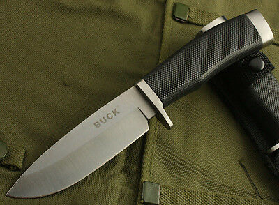 Buck Straight Blade Survival Camping Hunting Fishing Rescue Tool Fixed knife K8