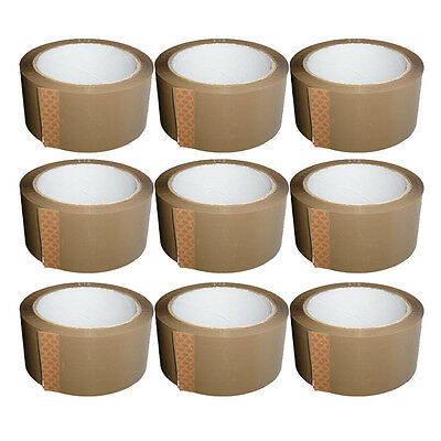Brown Strong Parcel Adhesive Packing Tape Packaging Carton Sealing 48Mm X 66M