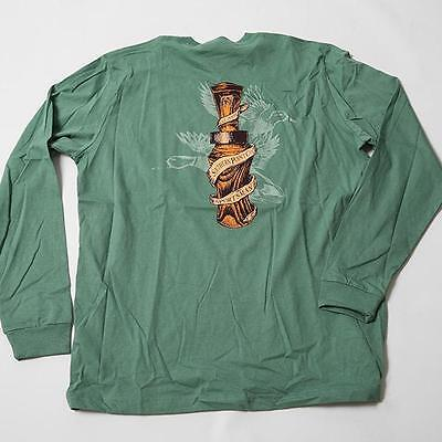 Duck Call Long Sleeve Tee w/ front pocket in Bay Green by Southern Point Co.